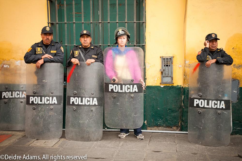 Lima police ©Deidre Adams